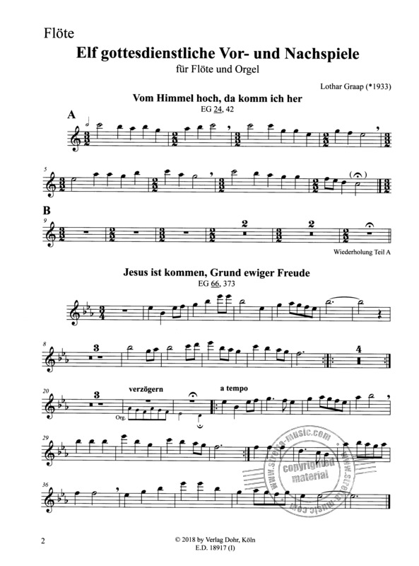 Lothar Graap: 11 Pre- and Postludes for Worship Practice (4)