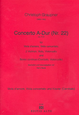 Christoph Graupner: Concerto 22 A-Dur