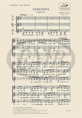 Editio Musica Budapest Choir Stretta Sheet Music Shop