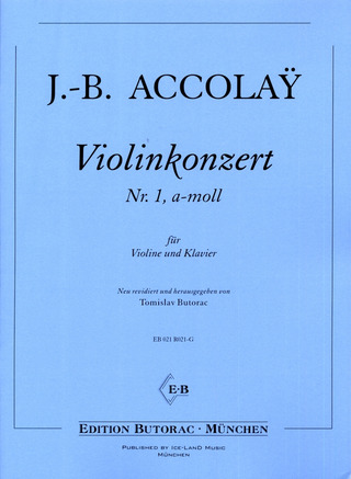 Jean-Baptiste Accolay: Violinkonzert Nr. 1 a-Moll