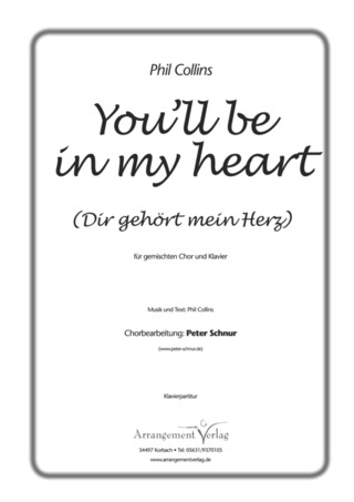Phil Collins: You'll be in my heart (Dir gehört mein Herz)
