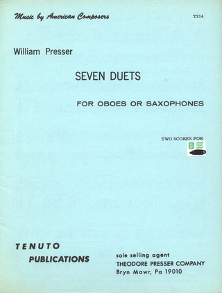 Presser William: 7 Duets