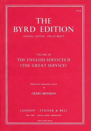 William Byrd: The English Services II