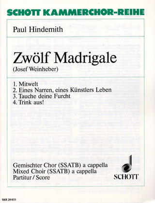 Paul Hindemith: Zwölf Madrigale 1