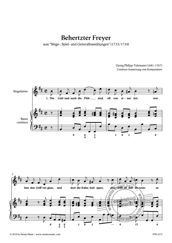 Georg Philipp Telemann: Behertzter Freyer