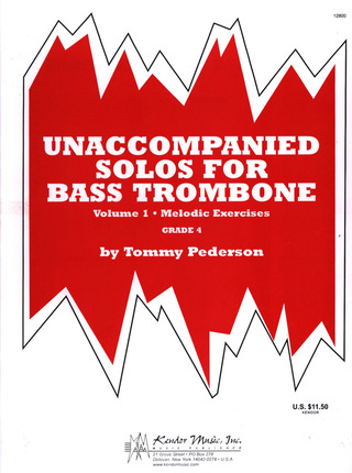 Pederson Tommy: Unaccompanied Solos 1 For Bass Trombone 1