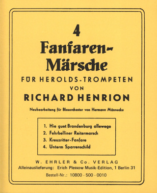 Henrion Richard: 4 Fanfarenmaersche