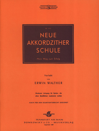 Walther E.: Neue Akkordzither Schule