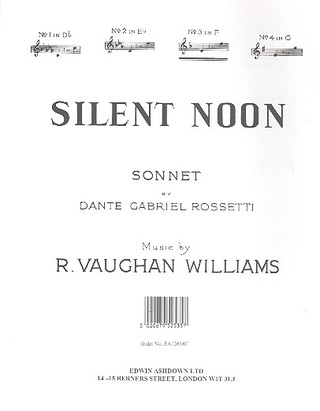 Ralph Vaughan Williams: Vaughan Williams, R Silent Noon In F Major Voice/Piano