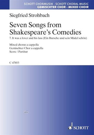 Siegfried Strohbach: Seven Songs from Shakespeare's Comedies