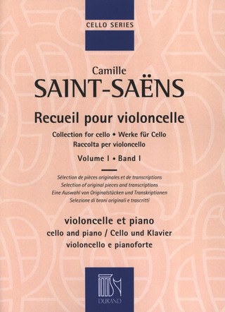 Camille Saint-Saëns: Collection for Cello 1