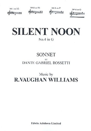 Ralph Vaughan Williams: Vaughan Williams, R Silent Noon In G Major Voice/Piano