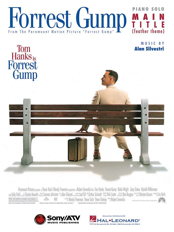 Alan Silvestri: Alan Silvestri: Forrest Gump Feather Theme (Piano) Pf Book