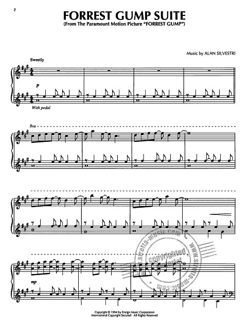 Alan Silvestri: Alan Silvestri: Forrest Gump Feather Theme (Piano) Pf Book (1)