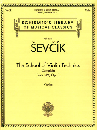 Otakar Ševčík: The School of Violin Technics op. 1