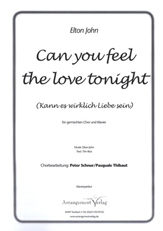 Elton John: Can you feel the love tonight