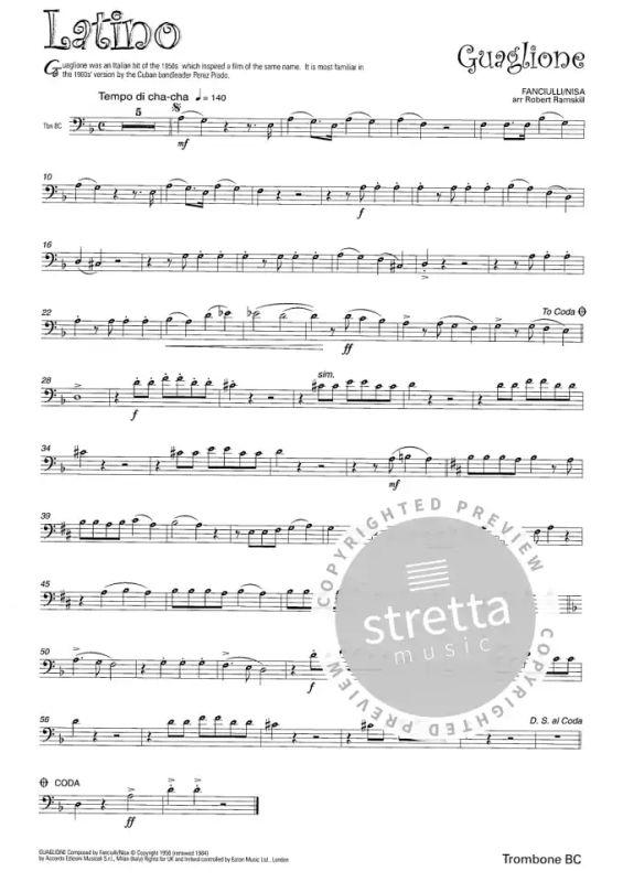 Latino for Trombone//Euphonium Bass Clef Sheet Music Book