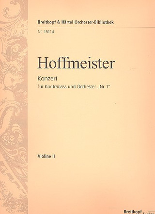 "Franz Anton Hoffmeister: Double Bass Concerto ""no. 1"" (with Violin obbligato)"