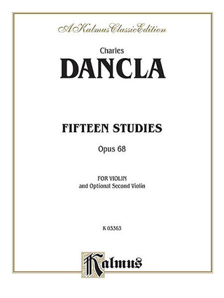 Charles Dancla: 15 Studies Op 68