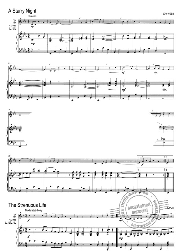 Winner Scores All Piano Accompaniment for Trumpet /& Trombone Music Book