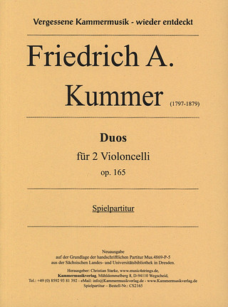 Friedrich August Kummer: 3 Duos op. 165