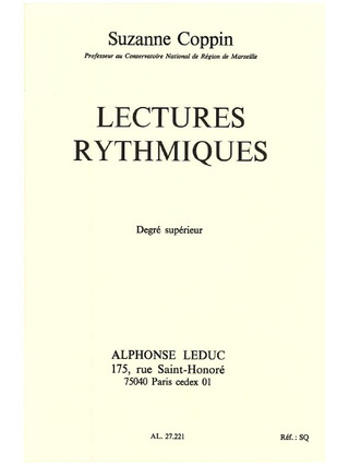Suzanne Coppin: Lectures Rythmiques