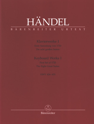 George Frideric Handel: Keyboard Works 1 HWV 426-433