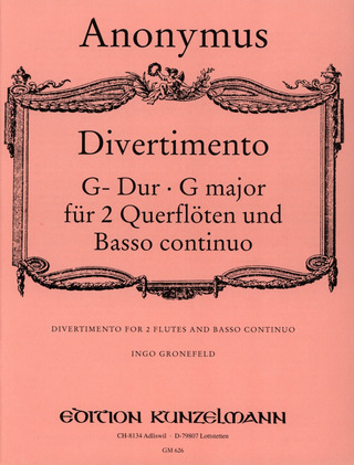 Anonymus: Divertimento G-Dur