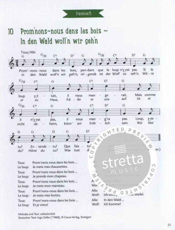 Kinderlieder Aus Deutschland Und Europa Im Stretta Noten