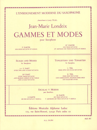 Jean-Marie Londeix: Scales and Modes 1