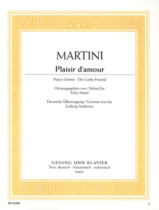 Jean Paul Egide Martini: Plaisir d'amour