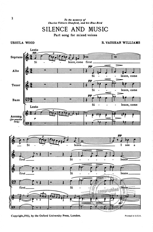 Ralph Vaughan Williams: Silence And Music (1)