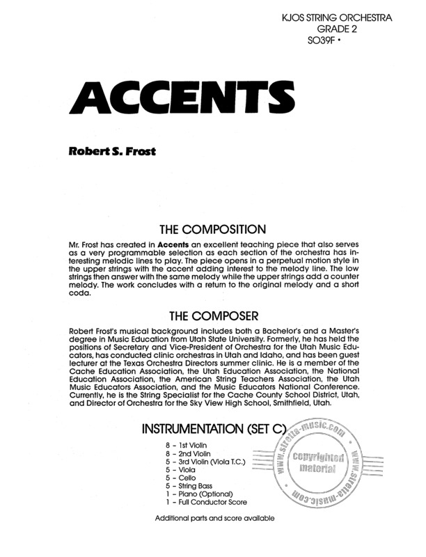 Robert S. Frost: Accents (1)