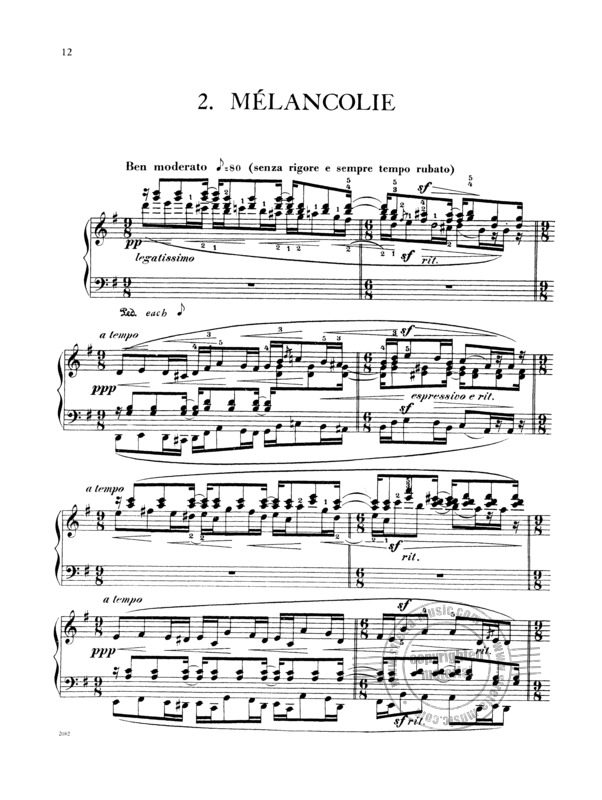 Emmanuel Chabrier: Pieces Pittoresques - 10 Stuecke (2)