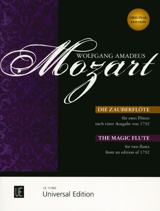 Wolfgang Amadeus Mozart: The Magic Flute –  for 2 flutes from an edition of 1792