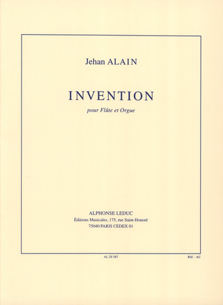 Jehan Alain: Invention à 3 Voix
