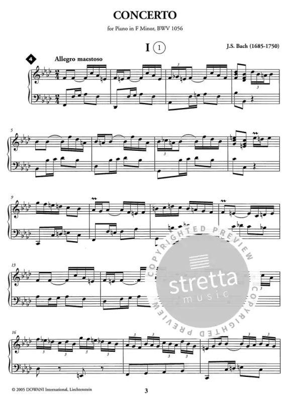 Bach Klavierkonzert