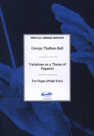 Thalben Ball Georg Thomas: Variations On A Theme By Paganini For Organ Pedal