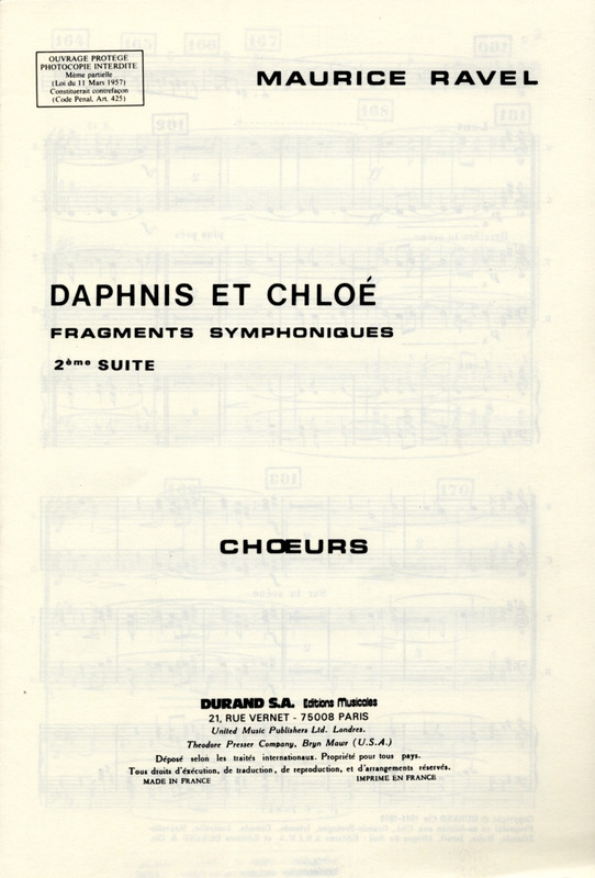 Maurice Ravel: Daphnis 2 Suite Choeurs