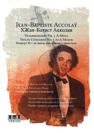 Jean-Baptiste Accolay: Violinkonzert Nr. 1 a-Moll (+DVD)