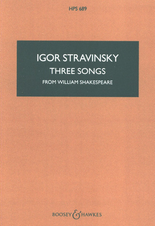 Igor Strawinsky: Three Songs from William Shakespeare