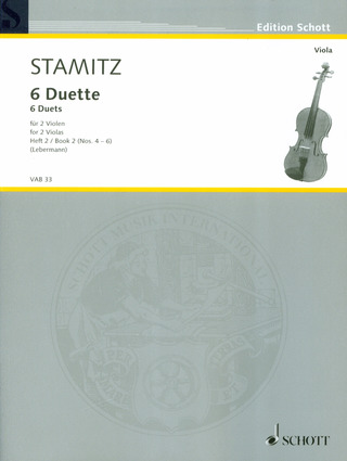 Carl Stamitz: 6 Duette Band 2 (Nr.4-6)