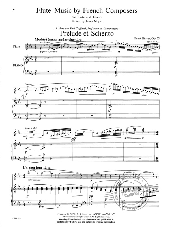 Flute Music By French Composers (Moyse) | buy now in Stretta