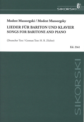 Modest Mussorgsky: Songs for Baritone and Piano