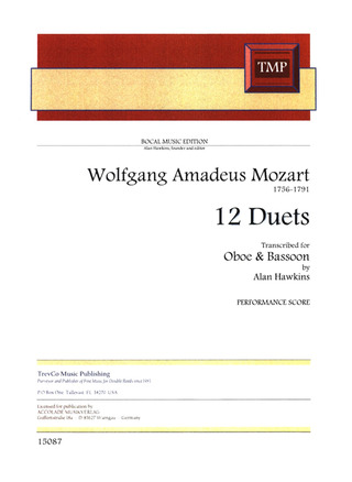 Wolfgang Amadeus Mozart: 12 Duets