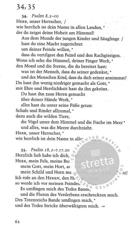 Evangelisches Gesangbuch Psalmen