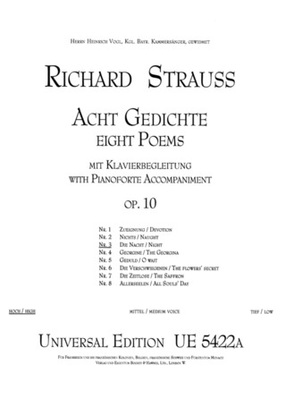 Richard Strauss: Night op. 10/3