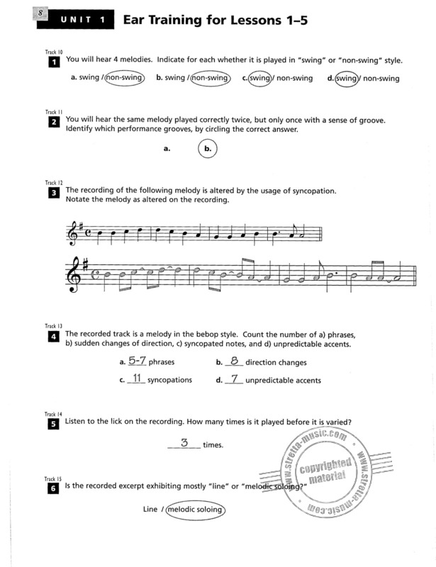 Shelly Berg: Alfred's Essentials of Jazz Theory – Teacher's Answer Key (2)