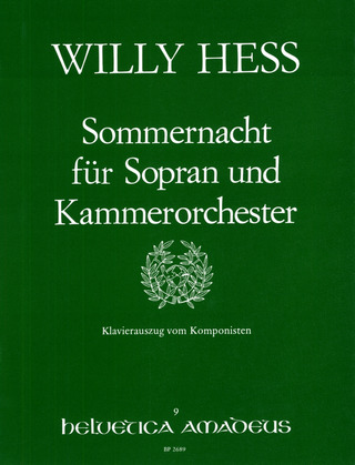 Willy Hess: Sommernacht (Kyber) Op 73