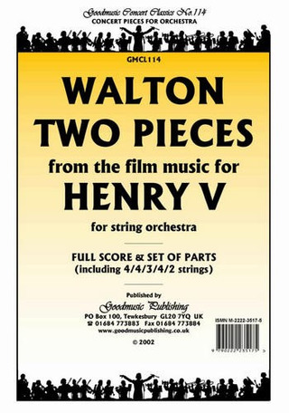William Walton: 2 Pieces From Henry V